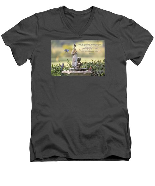 Prayer For The Animals That Bless Our Lives Men's V-Neck T-Shirt by Bonnie Barry