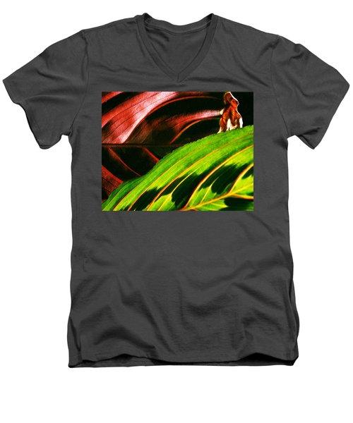 Prayer Plant Passing Men's V-Neck T-Shirt
