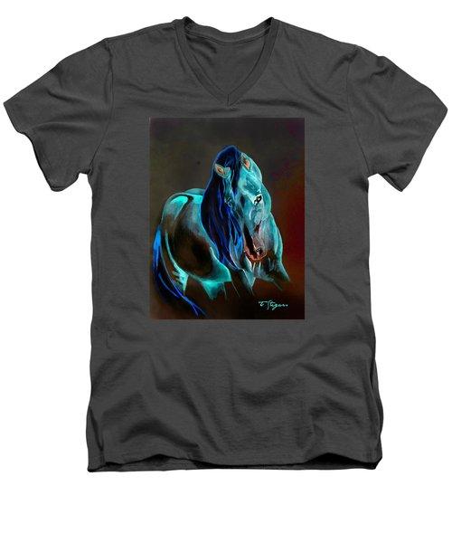 Pre In Blue Men's V-Neck T-Shirt