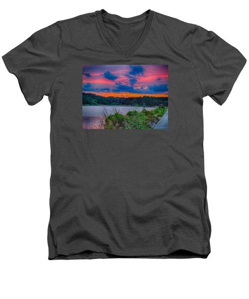 Pre-sunset At Hbsp Men's V-Neck T-Shirt by Bill Barber