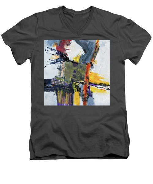 Precarious Men's V-Neck T-Shirt by Ron Stephens