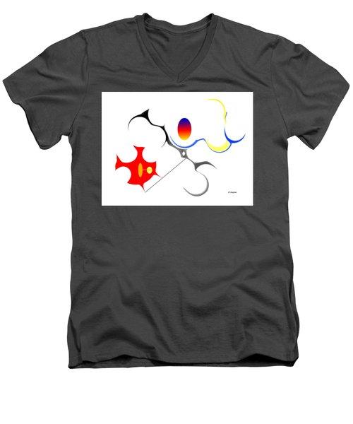 Precarious Study No, 3 Men's V-Neck T-Shirt