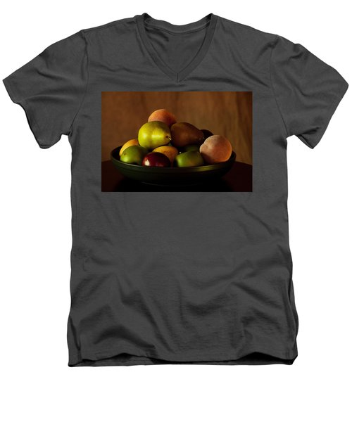 Precious Fruit Bowl Men's V-Neck T-Shirt by Sherry Hallemeier