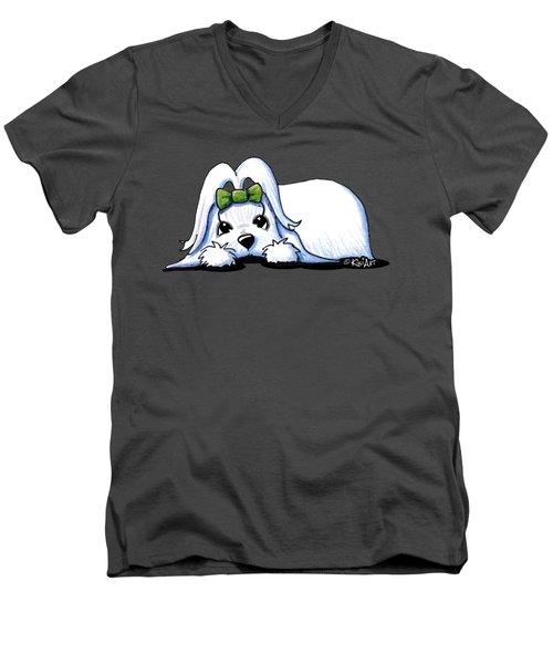 Precious Maltese Men's V-Neck T-Shirt