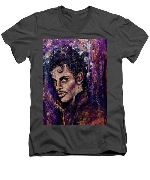 Precious Metals, Prince Men's V-Neck T-Shirt