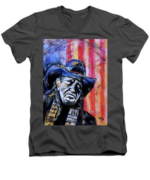 Precious Metals, Willie Americana Men's V-Neck T-Shirt