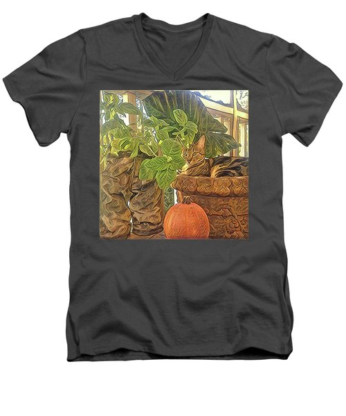 Precious Pumpkin Men's V-Neck T-Shirt