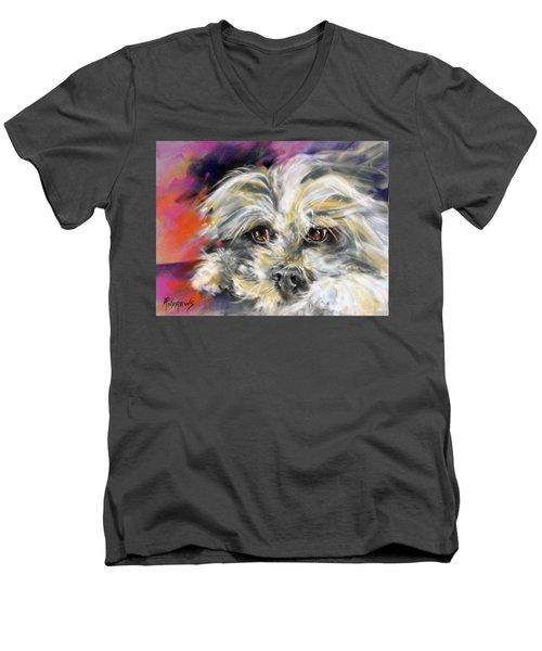 'precious' Men's V-Neck T-Shirt by Rae Andrews