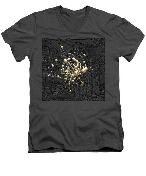 Precious Splashes - Set Of 4 Men's V-Neck T-Shirt by Serge Averbukh