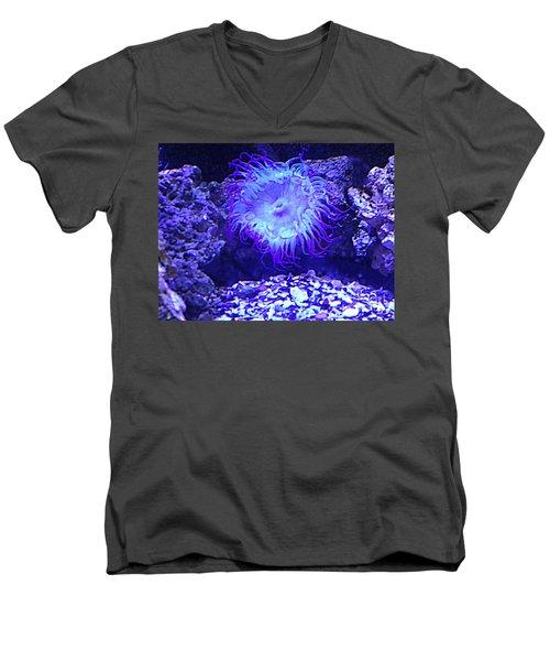 Predatory Terrestrial Sea Anemone Men's V-Neck T-Shirt