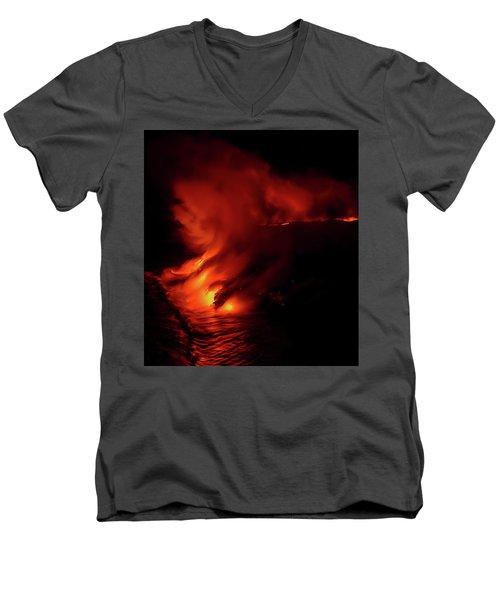 Predawn Pouroff Men's V-Neck T-Shirt by Allen Biedrzycki