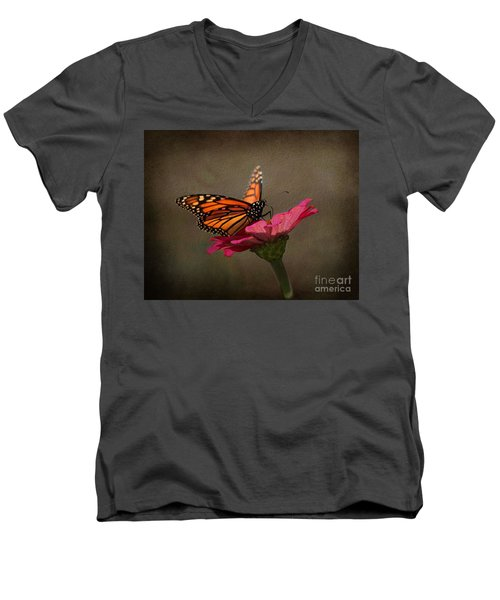 Prefect Landing - Monarch Butterfly Men's V-Neck T-Shirt