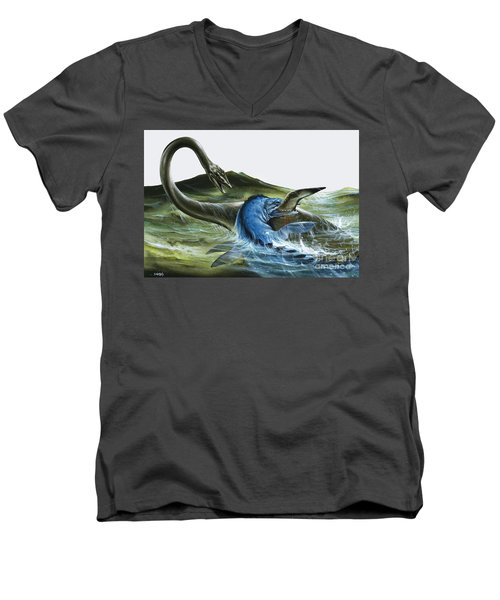 Prehistoric Creatures Men's V-Neck T-Shirt