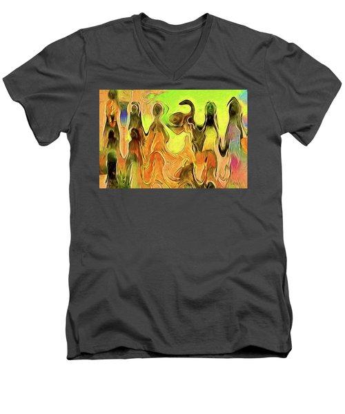 Presentation Men's V-Neck T-Shirt by Alex Galkin