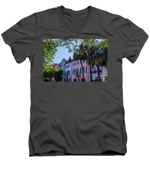 Presenting Rainbow Row  Men's V-Neck T-Shirt