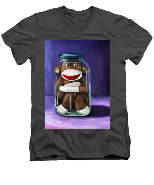 Preserving Childhood 3 Men's V-Neck T-Shirt by Leah Saulnier The Painting Maniac