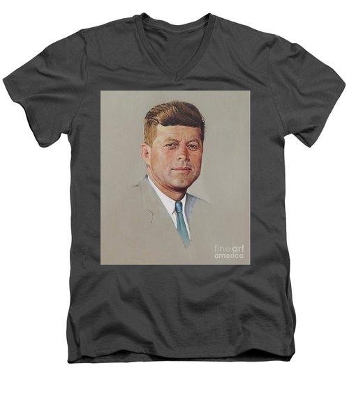 portrait of a President Men's V-Neck T-Shirt