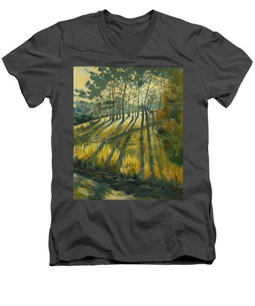 Presidio Men's V-Neck T-Shirt by Rick Nederlof