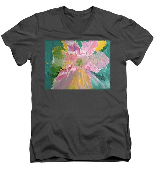 Pretty In Pastels Men's V-Neck T-Shirt by Karen Nicholson