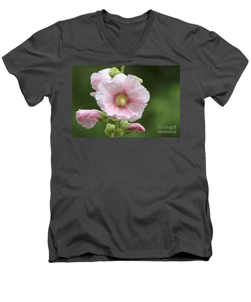 Pretty In Pink Men's V-Neck T-Shirt by Teresa Zieba