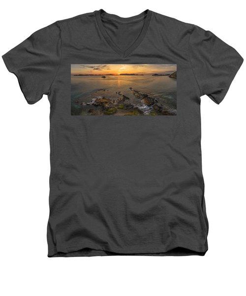Pretty Klip Point Men's V-Neck T-Shirt