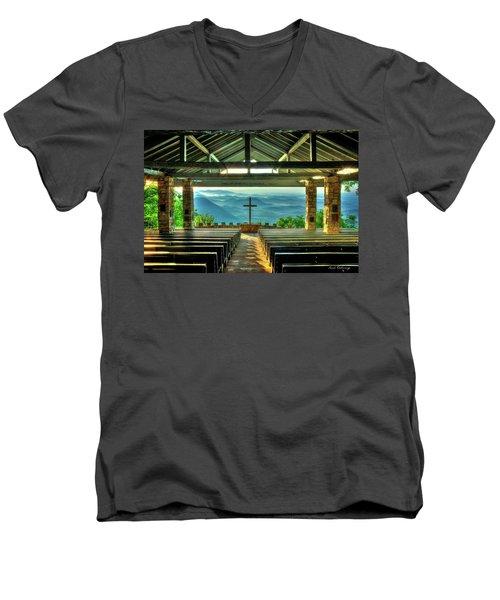 Pretty Place Chapel The Son Has Risen Men's V-Neck T-Shirt by Reid Callaway