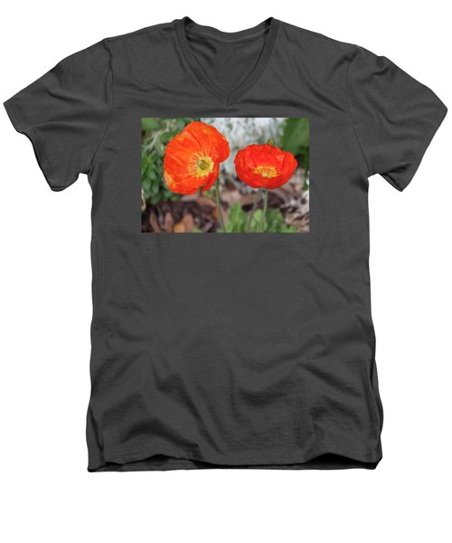 Pretty Poppies Men's V-Neck T-Shirt