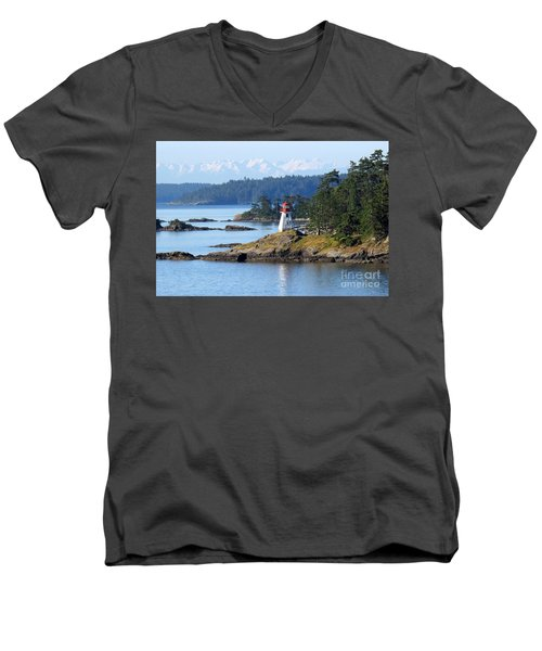 Prevost Island Lighthouse Men's V-Neck T-Shirt