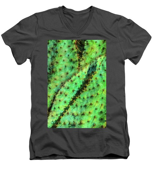 Men's V-Neck T-Shirt featuring the photograph Prickly by Paul Wear