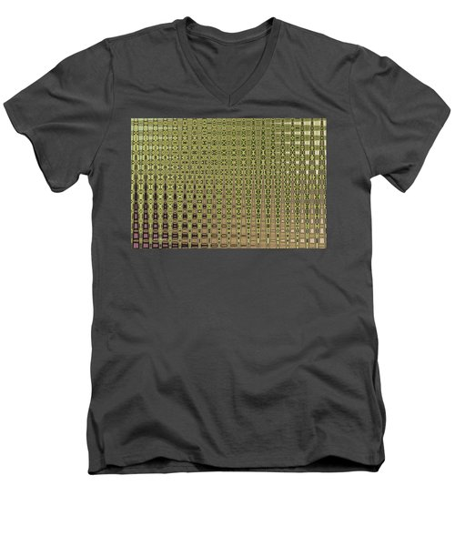 Prickly Pear Abstract # 5271wt Men's V-Neck T-Shirt
