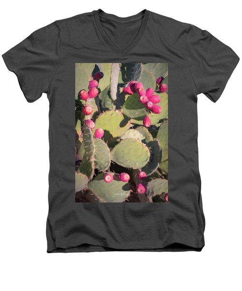 Prickly Pear Cactus Men's V-Neck T-Shirt