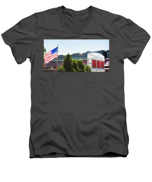 Men's V-Neck T-Shirt featuring the photograph Pride Of Athens by Parker Cunningham