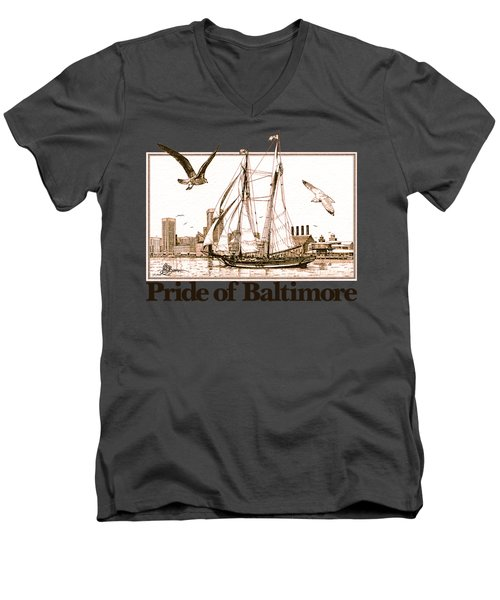Pride Of Baltimore Shirt Men's V-Neck T-Shirt