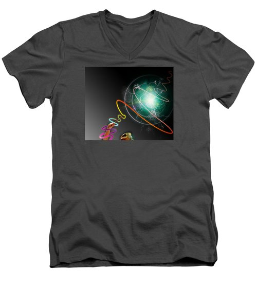 Pride Power Men's V-Neck T-Shirt by Christopher Woods