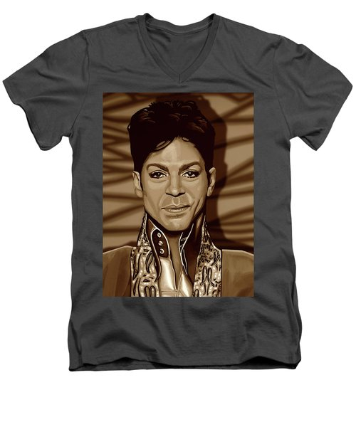 Prince 2 Gold Men's V-Neck T-Shirt