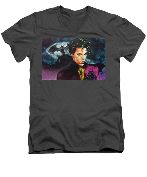 Prince Batdance Men's V-Neck T-Shirt by Darryl Matthews