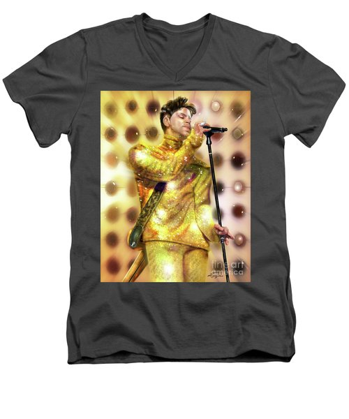 Prince Diamonds And Pearls Men's V-Neck T-Shirt