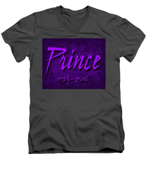 Prince Memorial Men's V-Neck T-Shirt