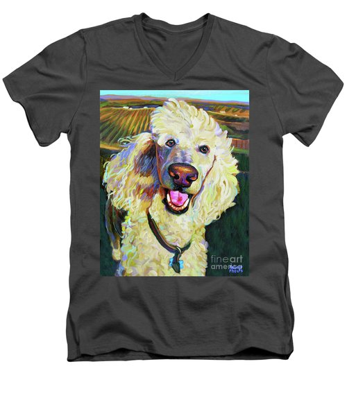 Princely Poodle Men's V-Neck T-Shirt