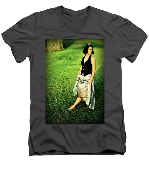 Princess Along The Grass Men's V-Neck T-Shirt