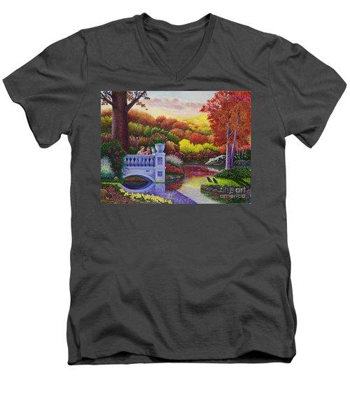 Princess Gardens Men's V-Neck T-Shirt by Michael Frank