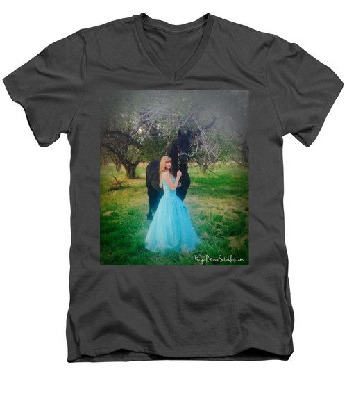 Princess' Stallion Men's V-Neck T-Shirt
