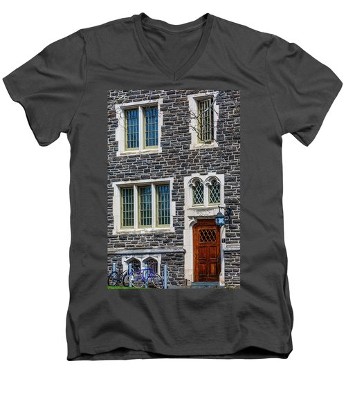 Men's V-Neck T-Shirt featuring the photograph Princeton University Patton Hall No 9 by Susan Candelario