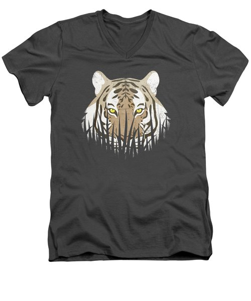 Hiding Tiger Men's V-Neck T-Shirt