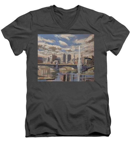 Printemps Sur Le Pont Fragnee Liege Men's V-Neck T-Shirt
