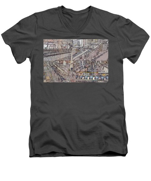 Production Line Men's V-Neck T-Shirt
