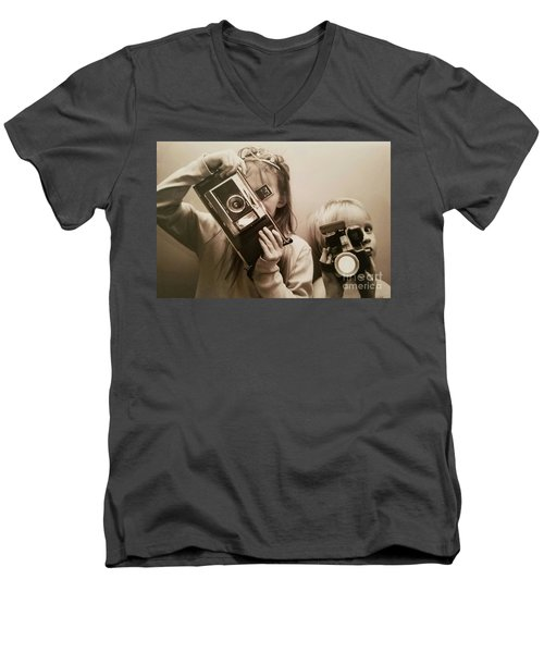 Professional Photographers Men's V-Neck T-Shirt by Scott D Van Osdol