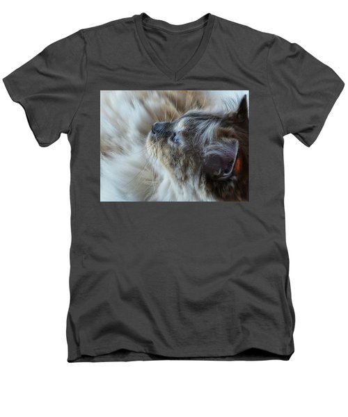 Men's V-Neck T-Shirt featuring the photograph Profile by Karen Stahlros