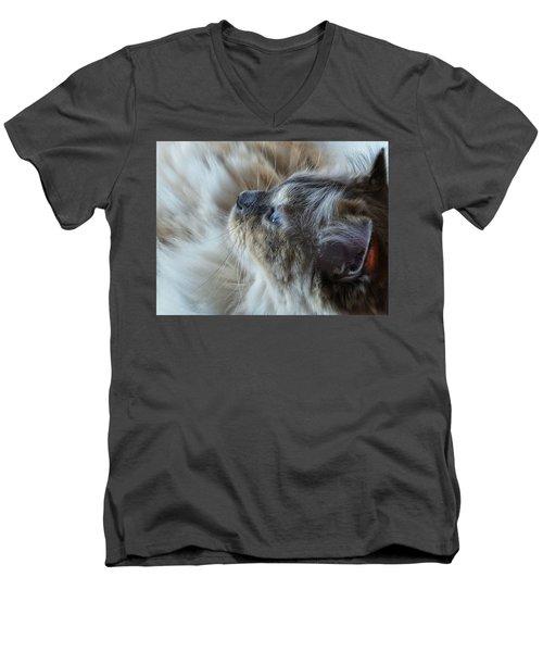 Profile Men's V-Neck T-Shirt by Karen Stahlros
