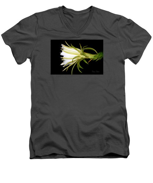 Profile Night Blooming Cereus Men's V-Neck T-Shirt